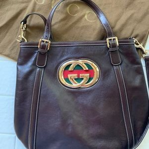 Gucci Britt Brown Leather handbag